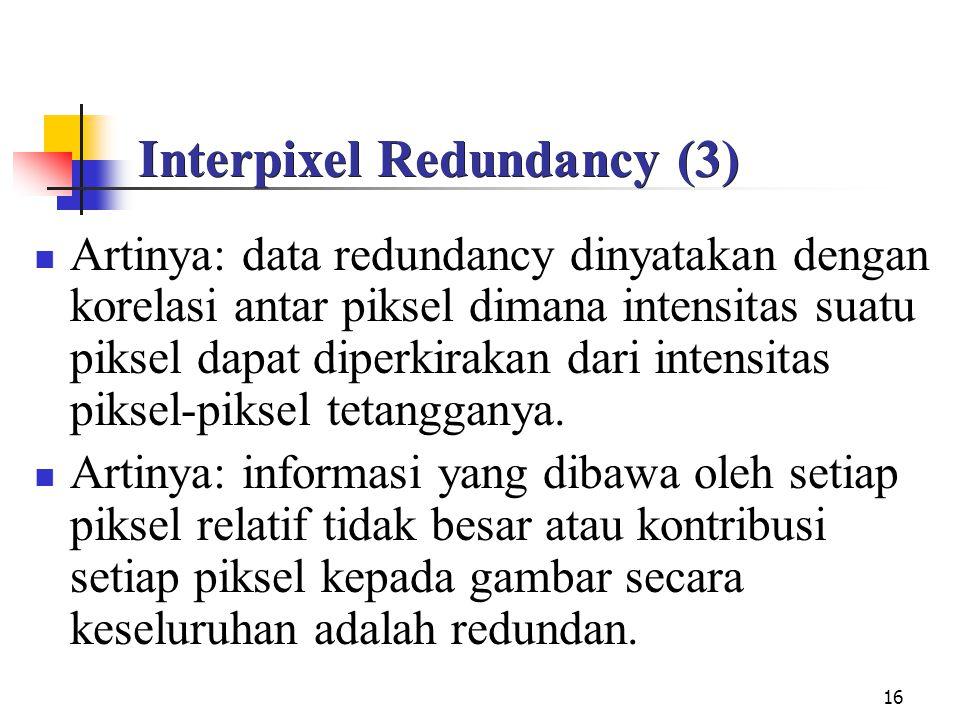 Interpixel Redundancy (3)