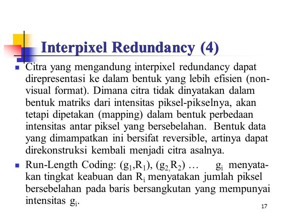 Interpixel Redundancy (4)