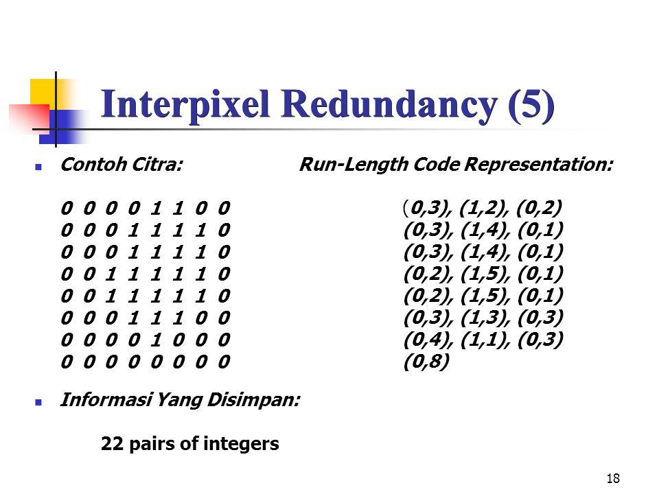 Interpixel Redundancy (5)
