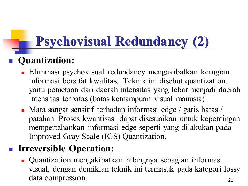 Psychovisual Redundancy (2)