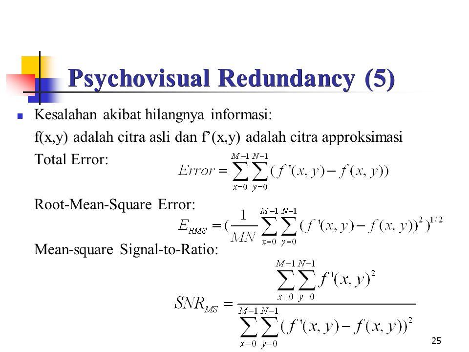 Psychovisual Redundancy (5)