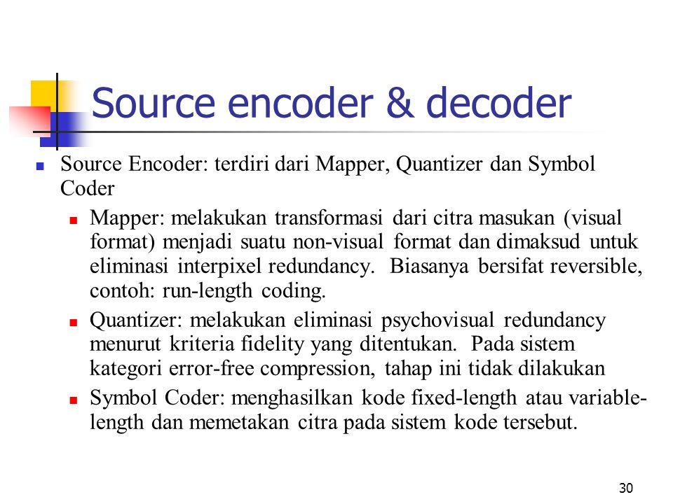 Source encoder & decoder