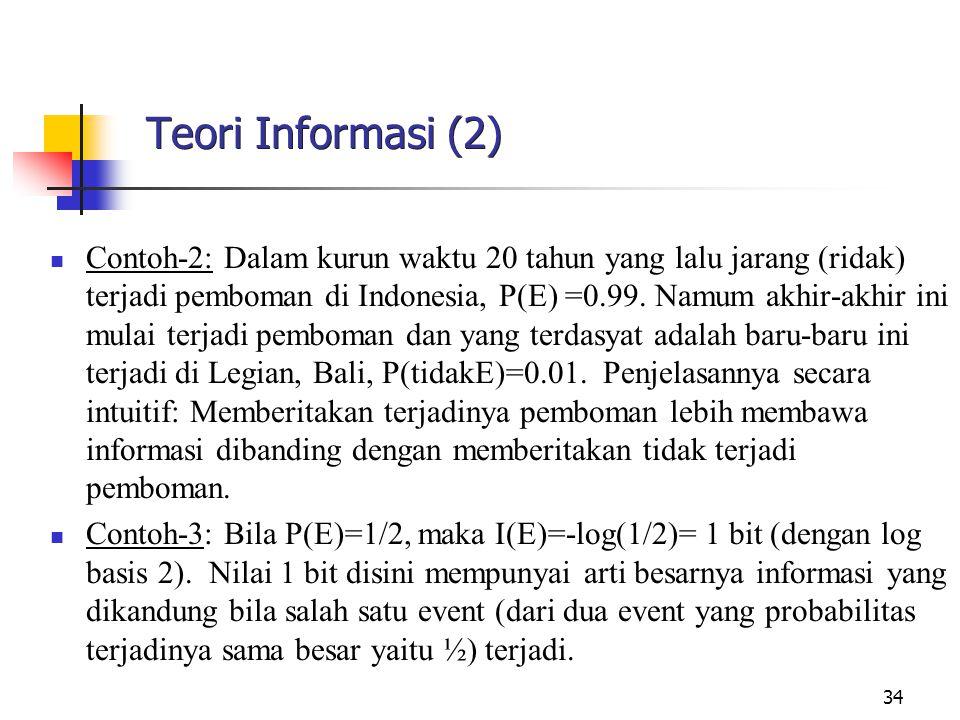 Teori Informasi (2)
