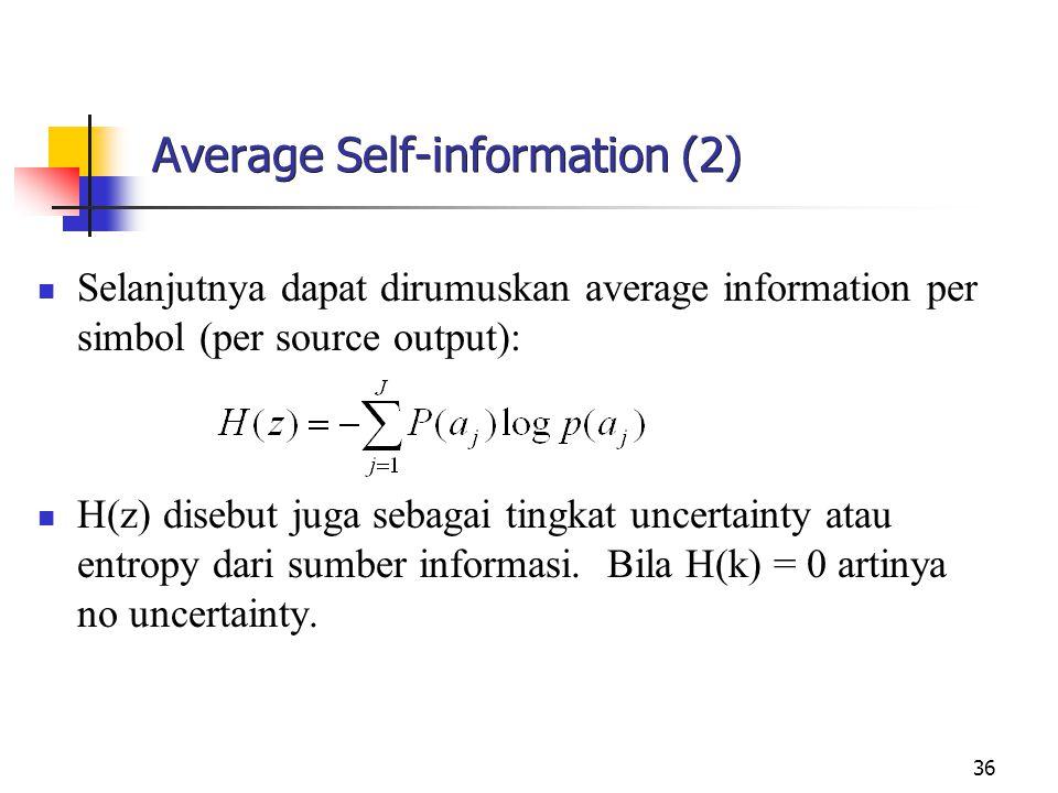 Average Self-information (2)
