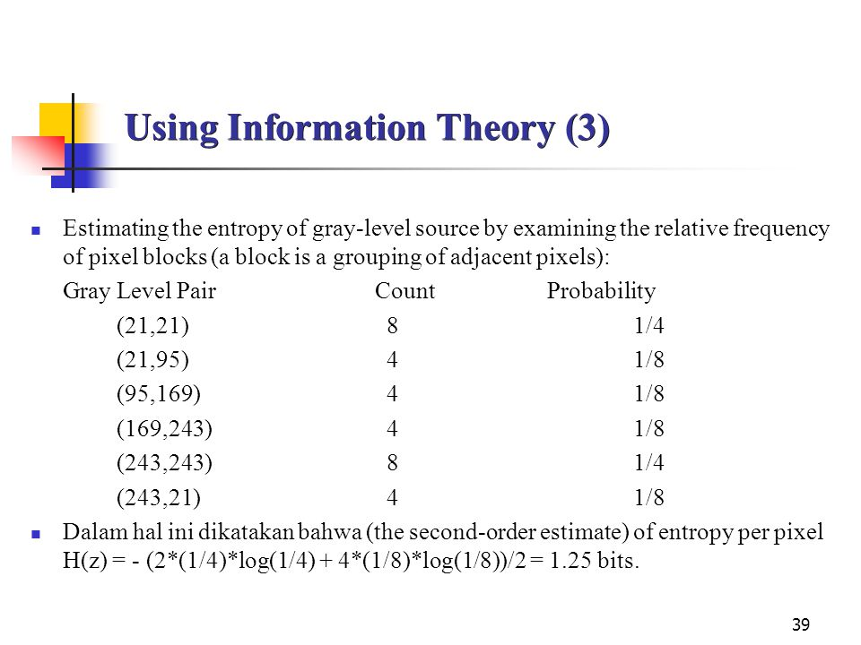 Using Information Theory (3)
