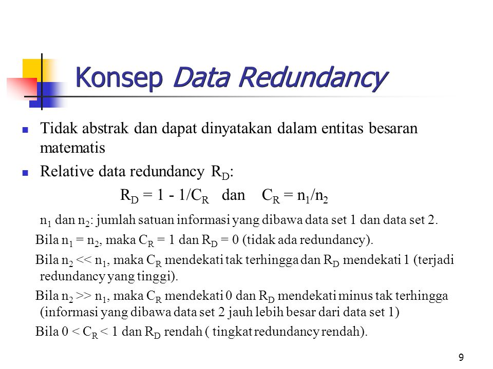 Konsep Data Redundancy