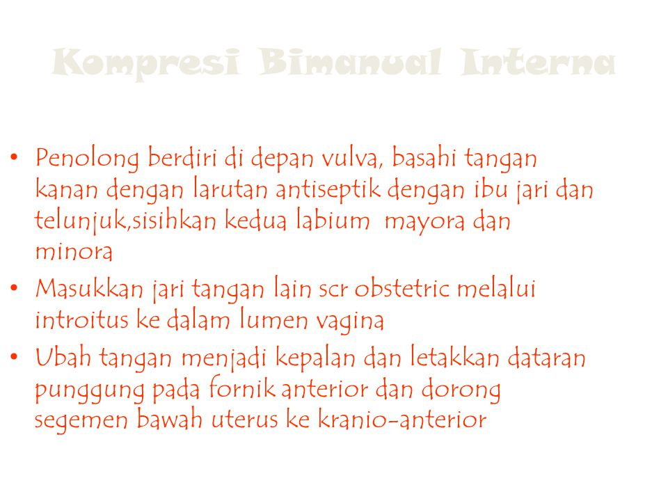 Kompresi Bimanual Interna