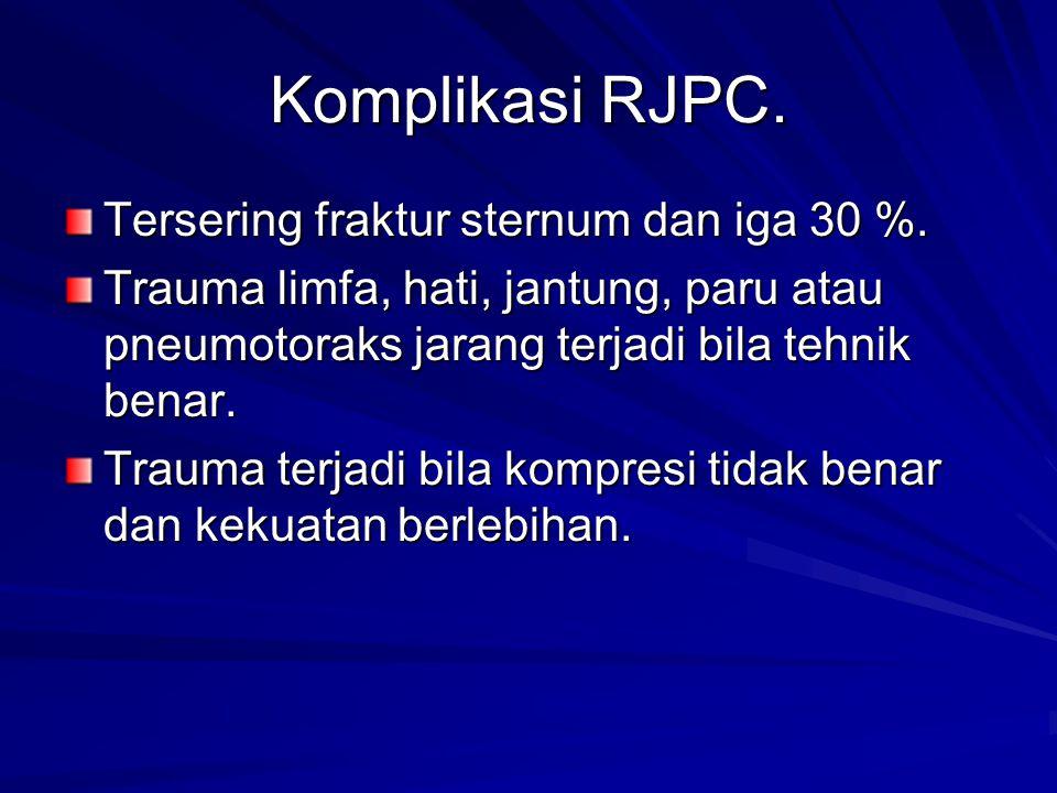 Komplikasi RJPC. Tersering fraktur sternum dan iga 30 %.