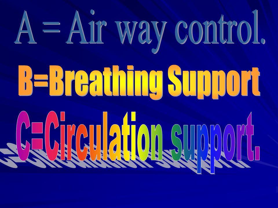 C=Circulation support.