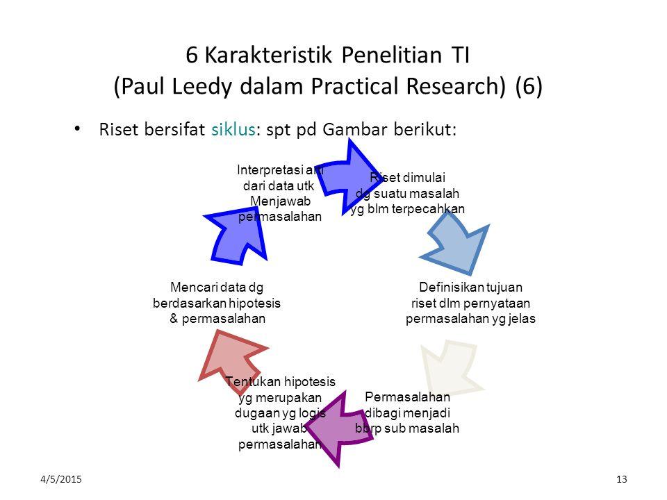 6 Karakteristik Penelitian TI (Paul Leedy dalam Practical Research) (6)