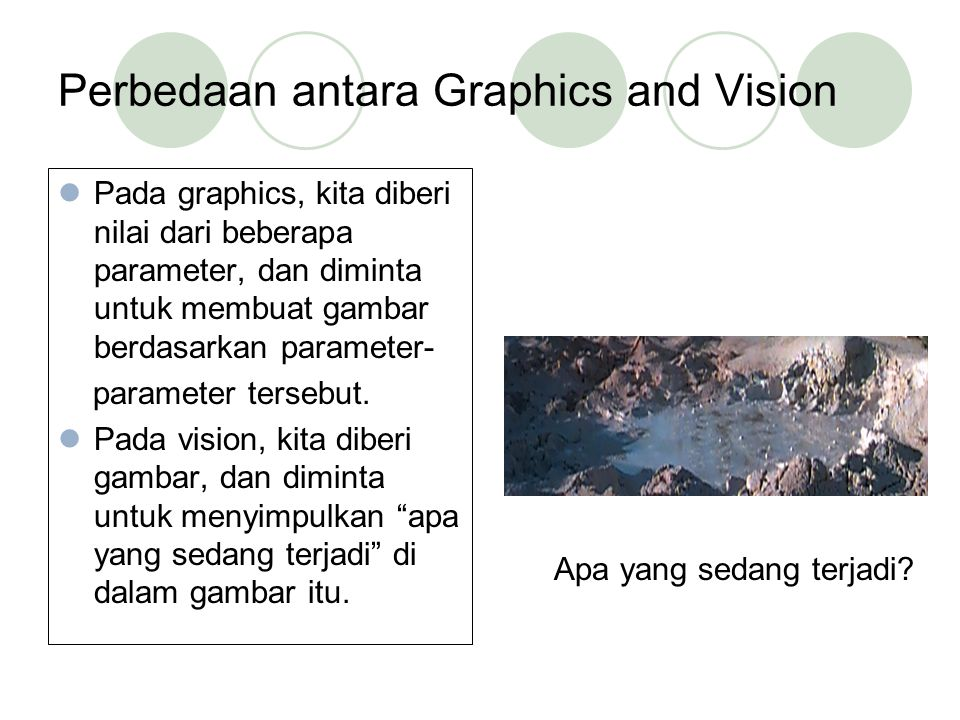 Perbedaan antara Graphics and Vision