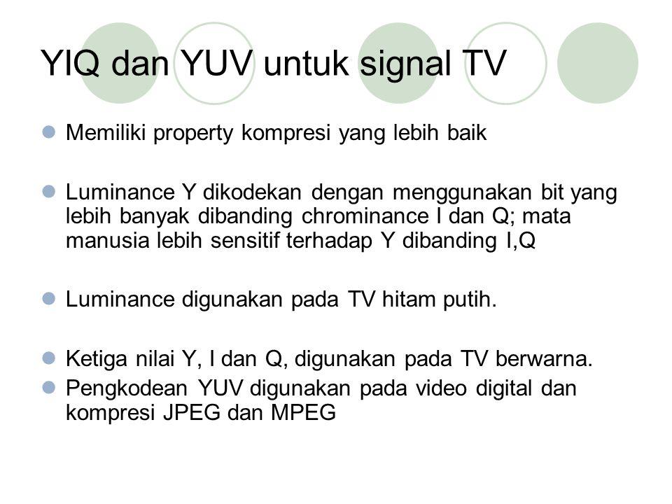 YIQ dan YUV untuk signal TV