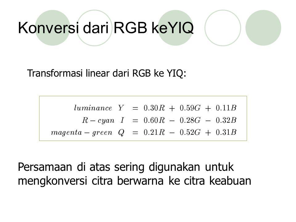 Konversi dari RGB keYIQ