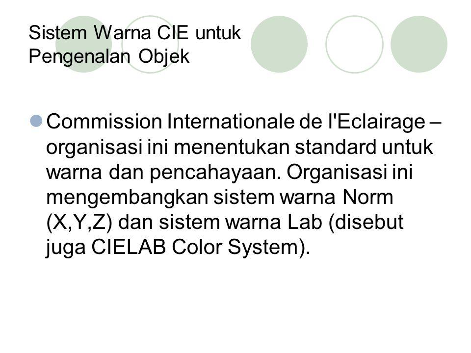 Sistem Warna CIE untuk Pengenalan Objek