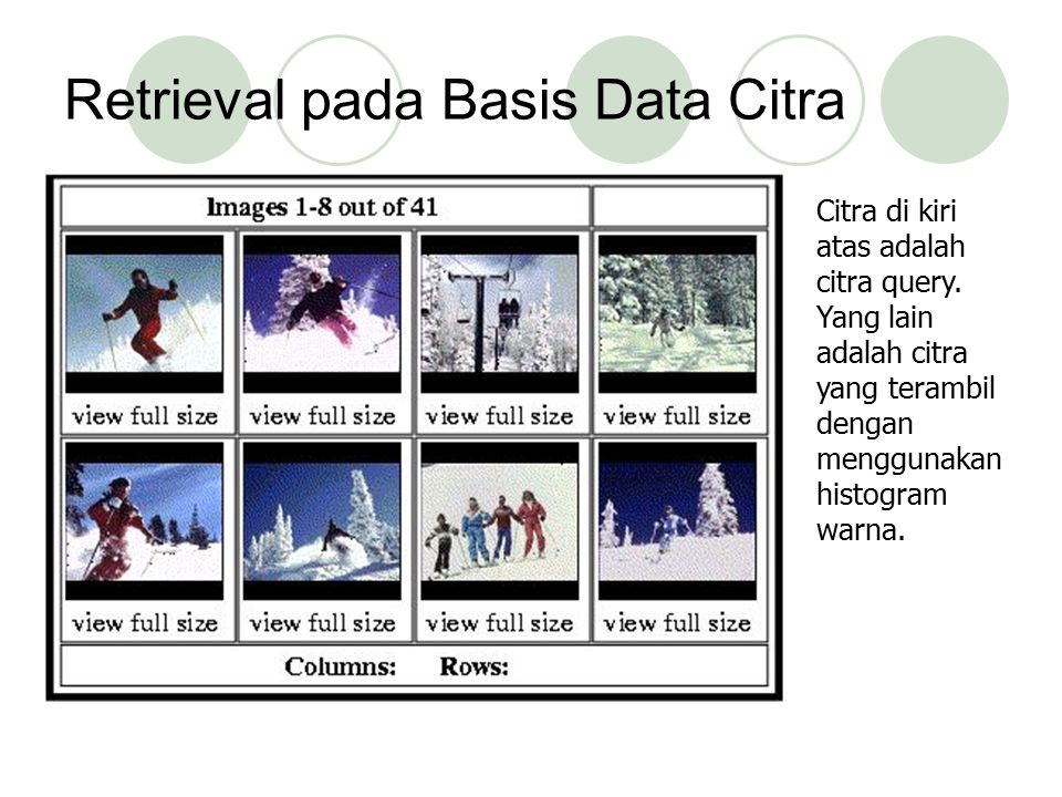 Retrieval pada Basis Data Citra