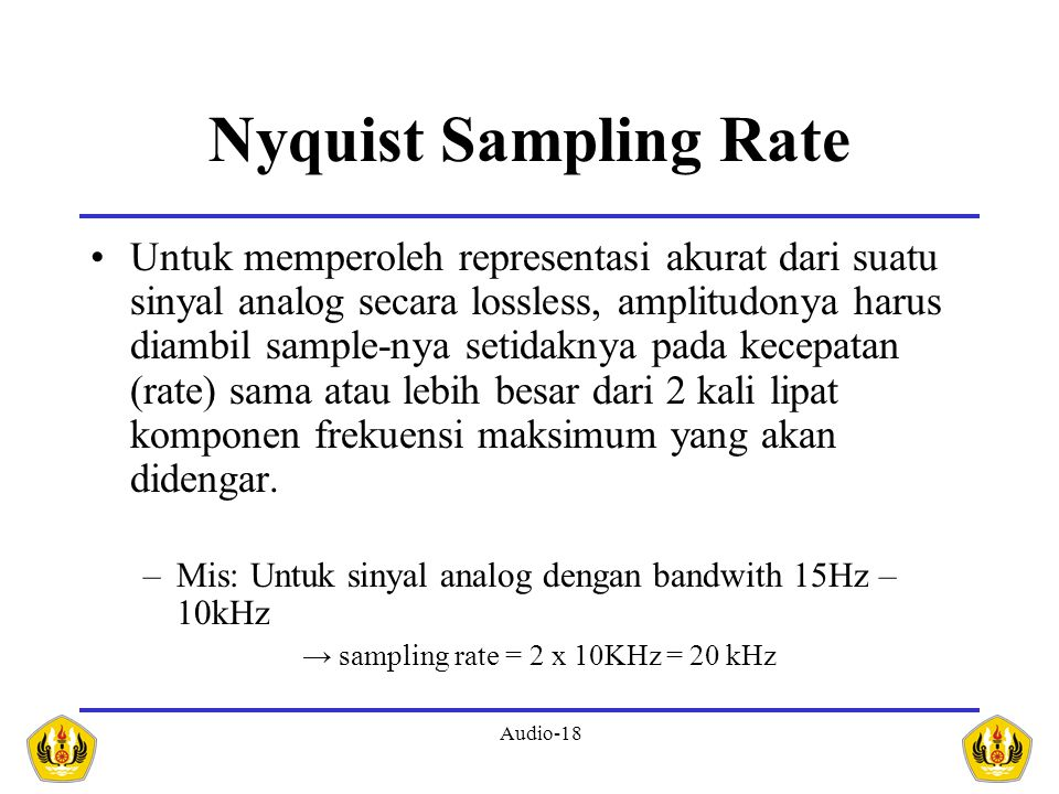 Nyquist Sampling Rate