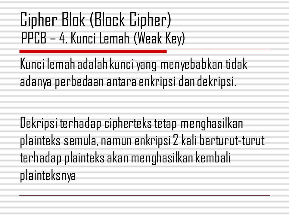 PPCB – 4. Kunci Lemah (Weak Key)