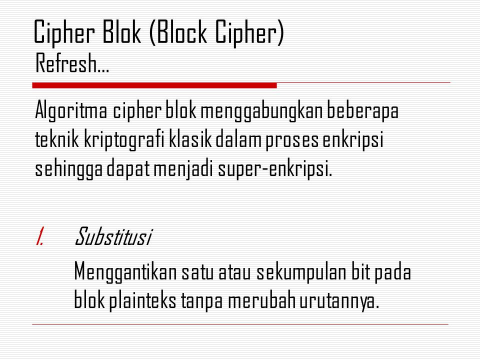 Cipher Blok (Block Cipher)