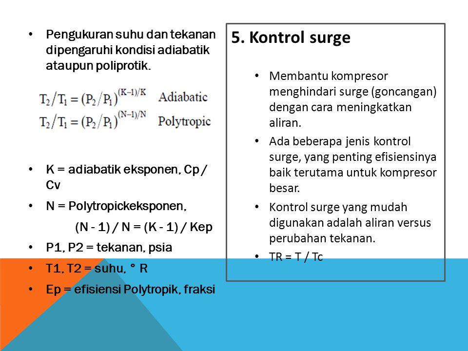 Pengukuran suhu dan tekanan dipengaruhi kondisi adiabatik ataupun poliprotik.