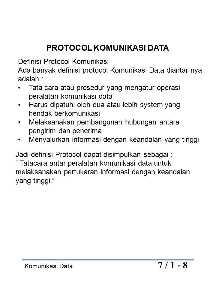 PROTOCOL KOMUNIKASI DATA