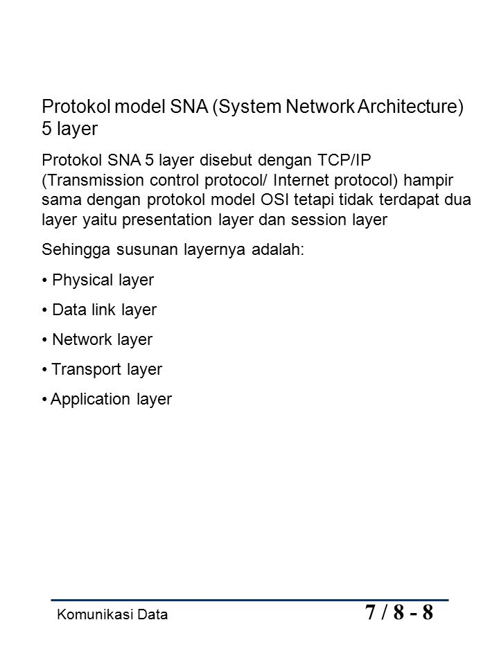 Protokol model SNA (System Network Architecture) 5 layer