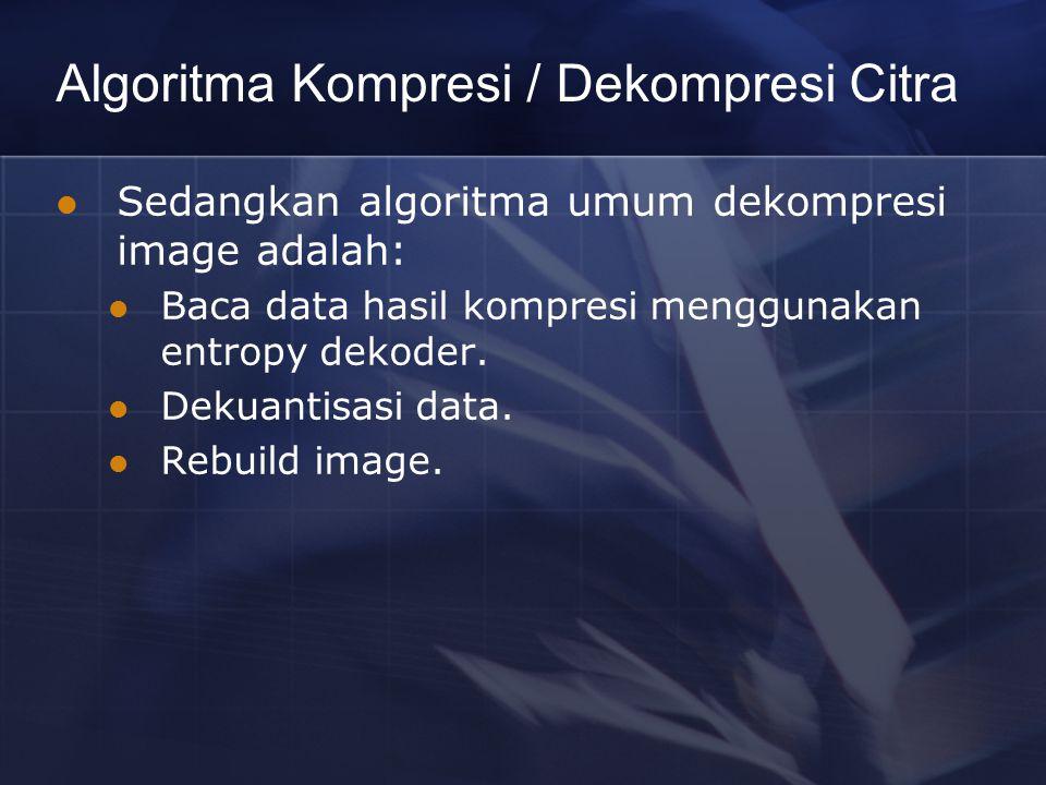 Algoritma Kompresi / Dekompresi Citra