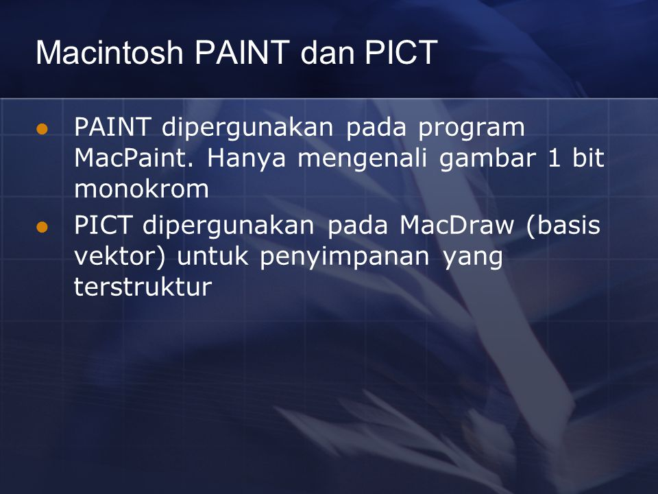 Macintosh PAINT dan PICT