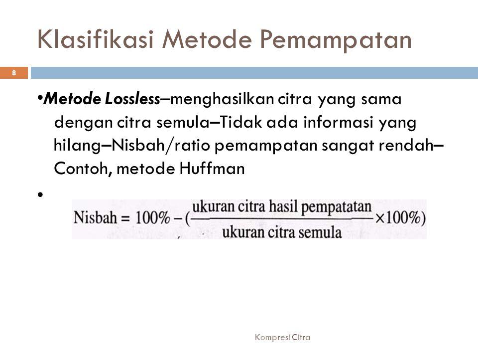 Klasifikasi Metode Pemampatan