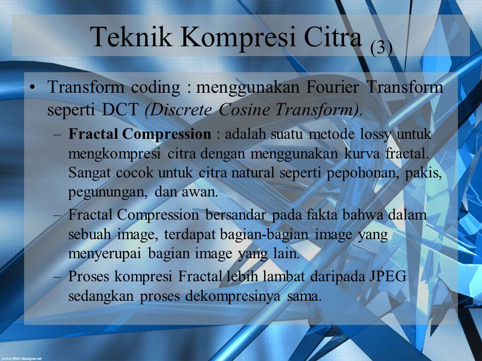 Teknik Kompresi Citra (3)