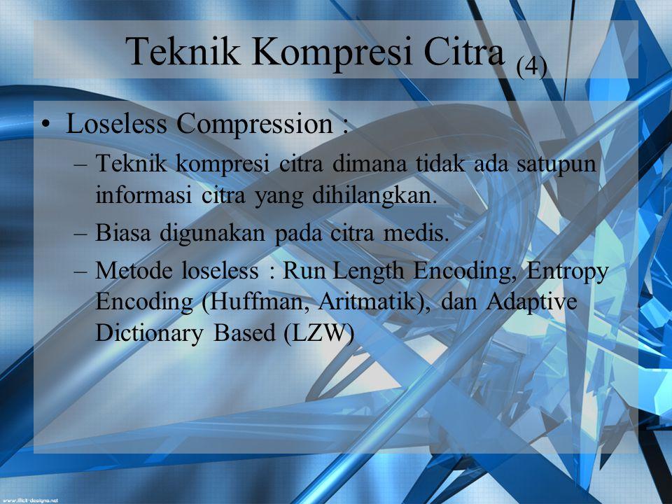 Teknik Kompresi Citra (4)