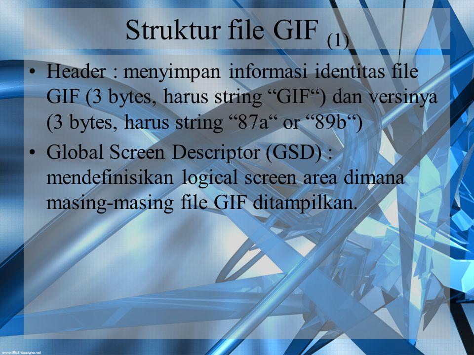 Struktur file GIF (1)