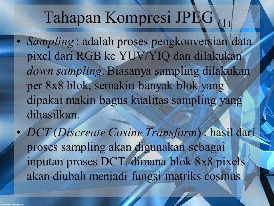 Tahapan Kompresi JPEG (1)