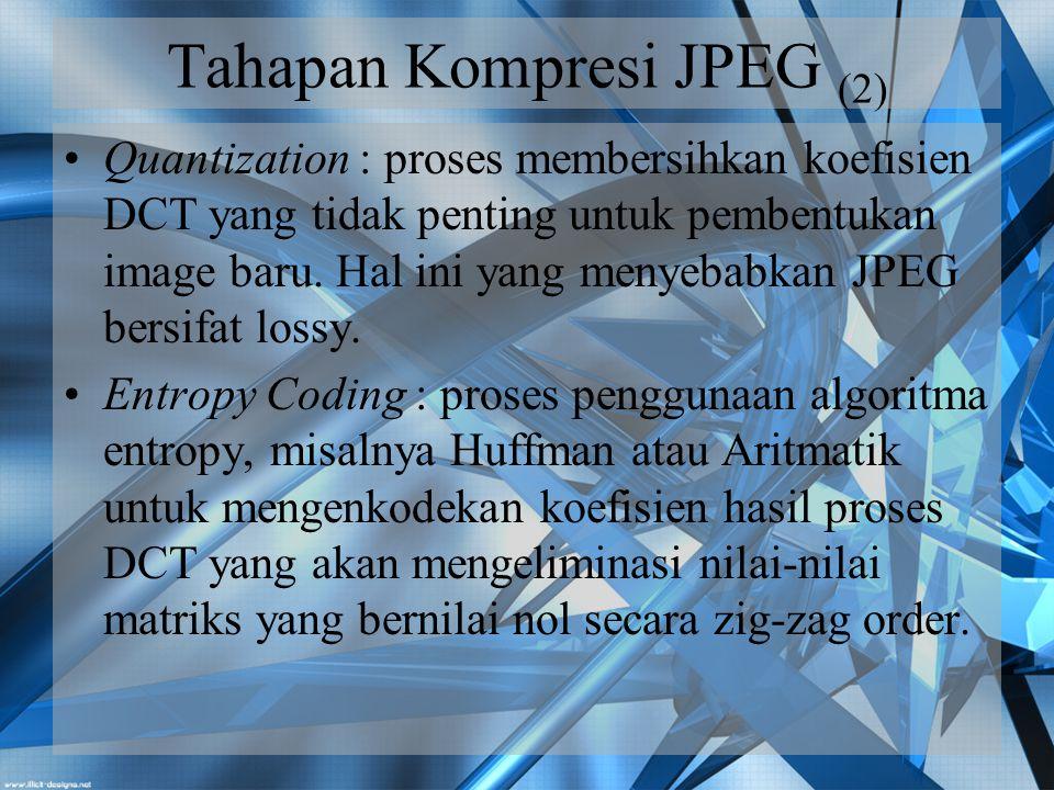 Tahapan Kompresi JPEG (2)