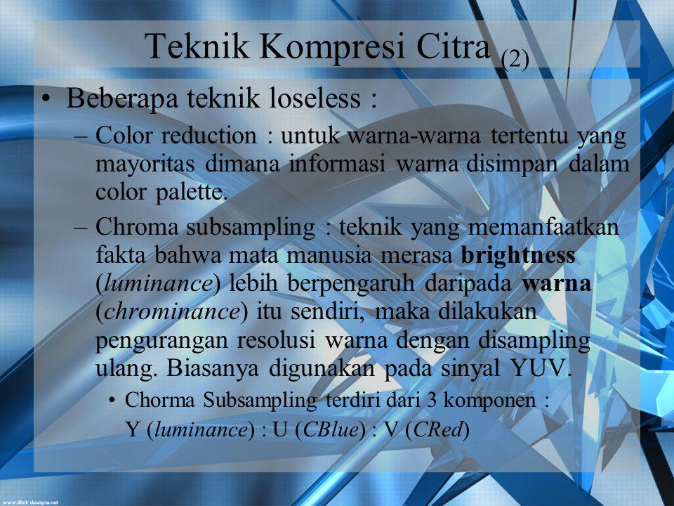Teknik Kompresi Citra (2)