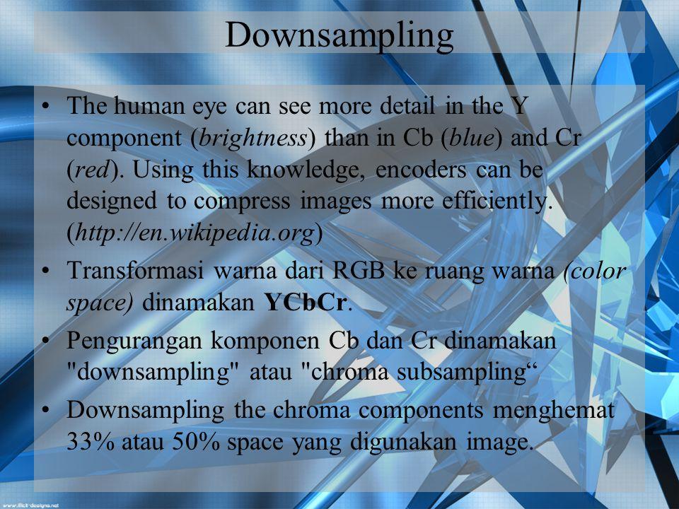 Downsampling