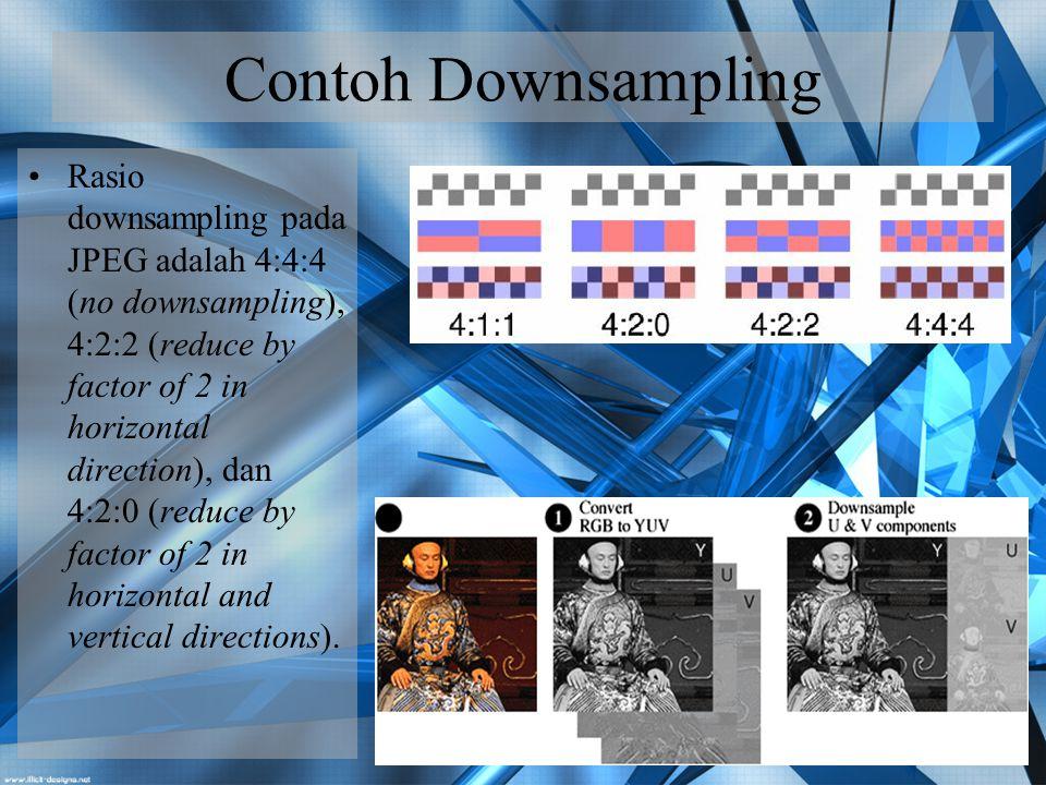 Contoh Downsampling