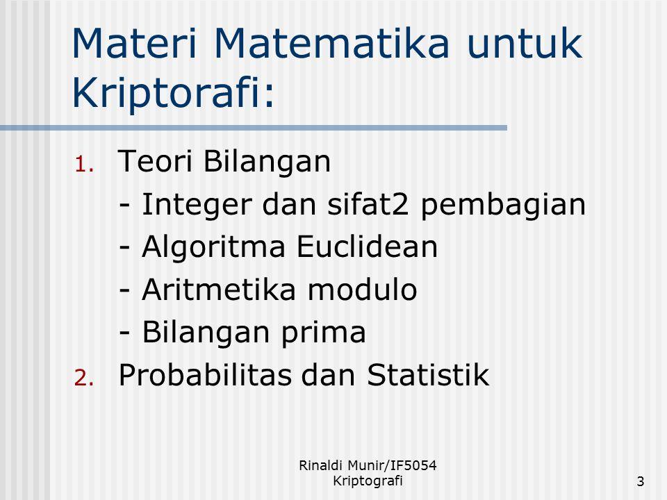 Materi Matematika untuk Kriptorafi: