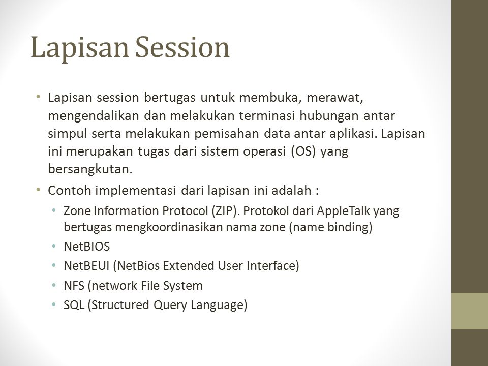 Lapisan Session