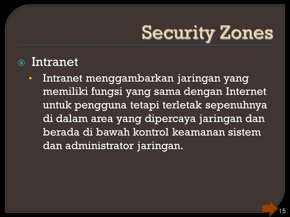 Security Zones Intranet