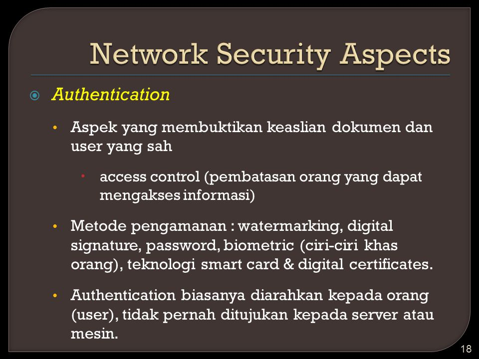 Network Security Aspects