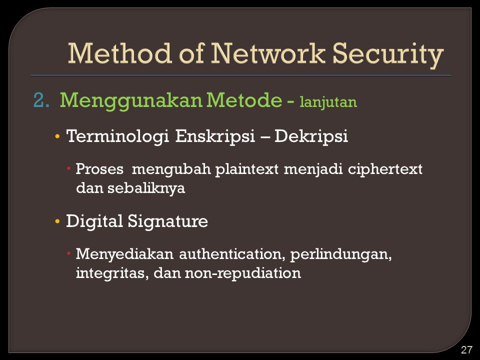 Method of Network Security