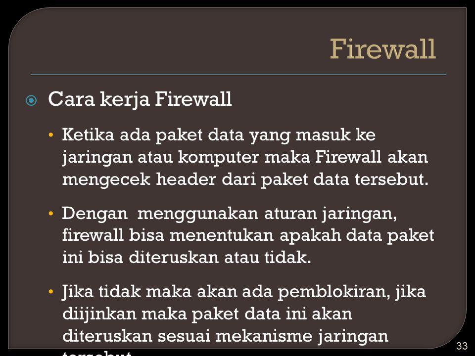 Firewall Cara kerja Firewall