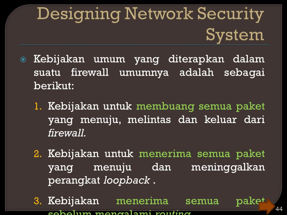 Designing Network Security System