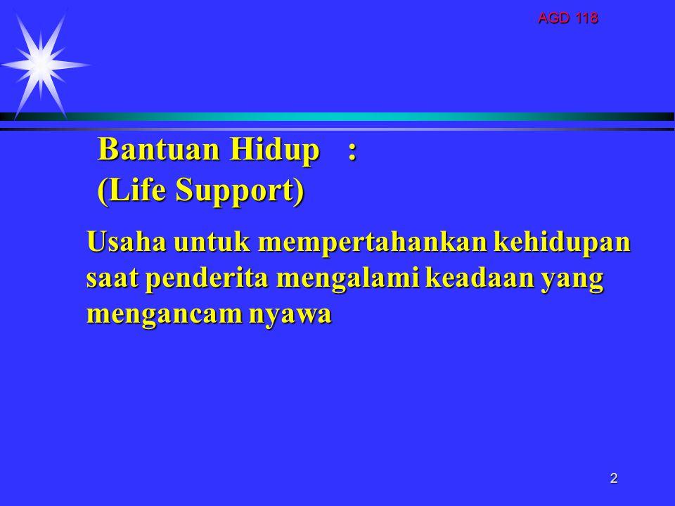 Bantuan Hidup : (Life Support) Usaha untuk mempertahankan kehidupan