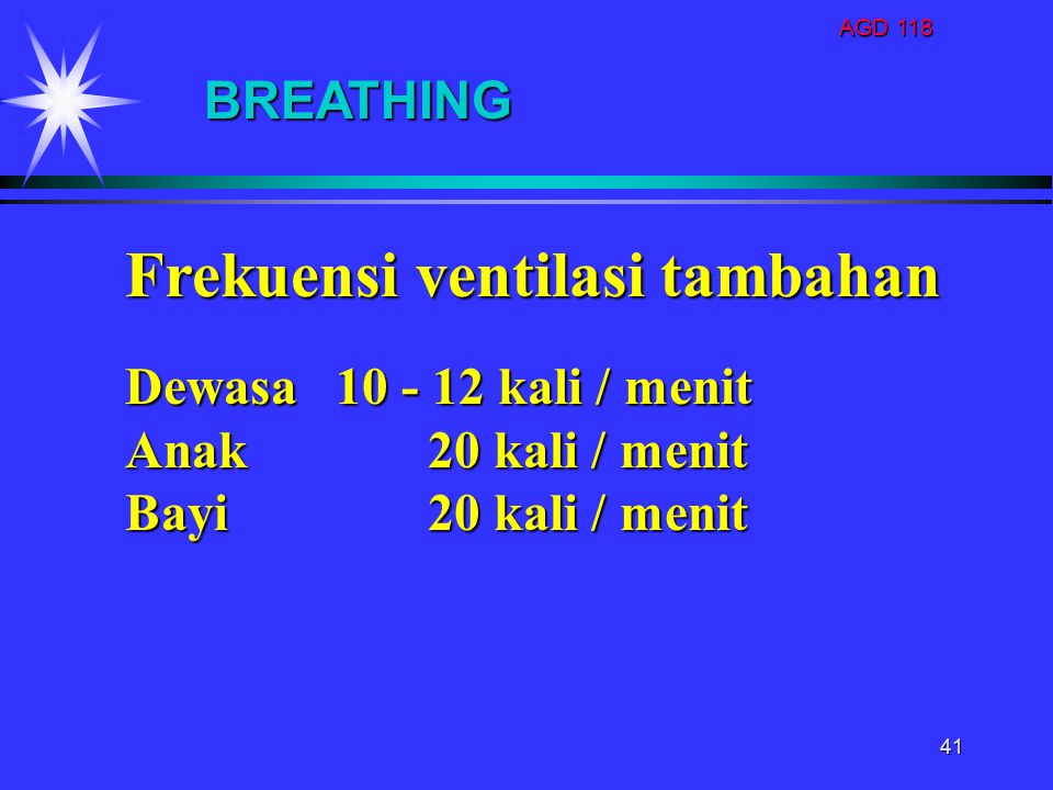 Frekuensi ventilasi tambahan