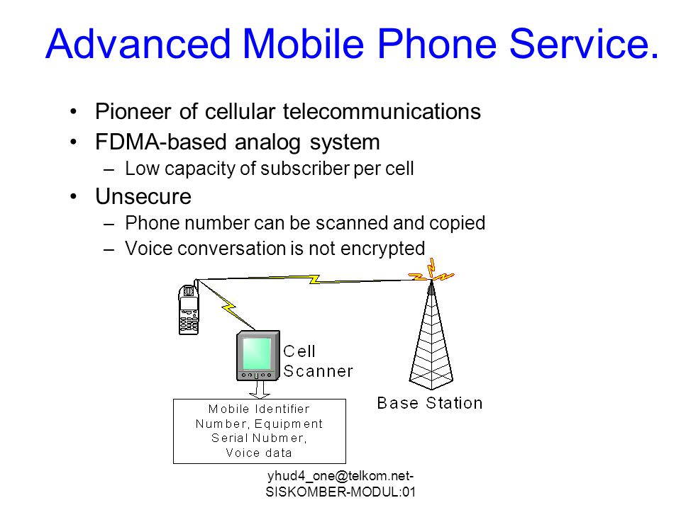 Advanced Mobile Phone Service.