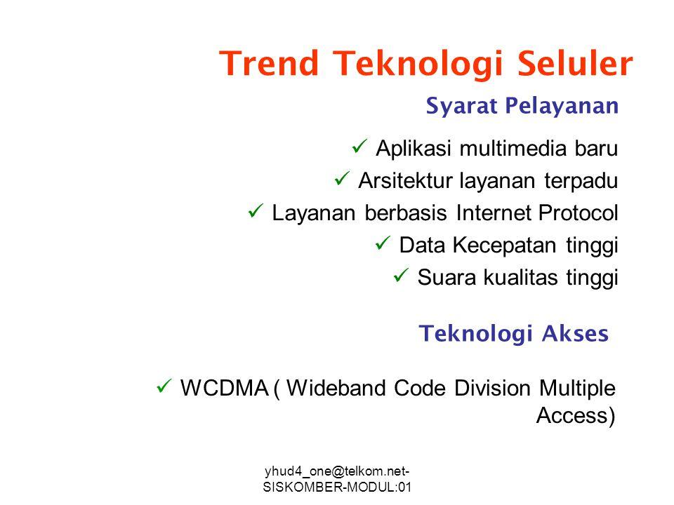 Trend Teknologi Seluler