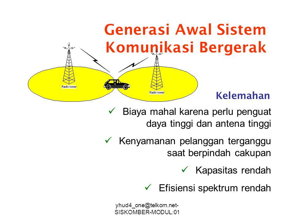 Generasi Awal Sistem Komunikasi Bergerak