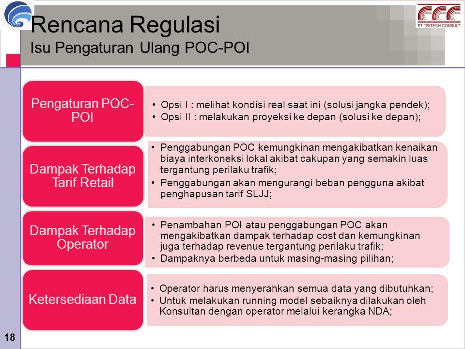 Rencana Regulasi Isu Pengaturan Ulang POC-POI Dampak Terhadap Operator