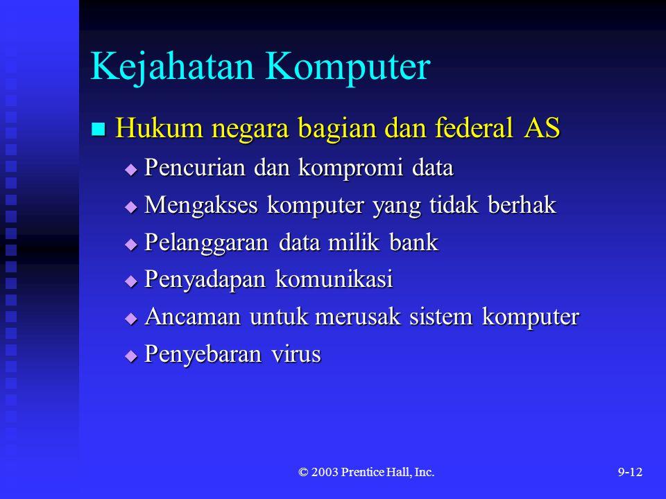 Kejahatan Komputer Hukum negara bagian dan federal AS